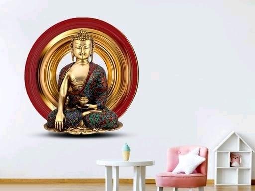 Gautam Buddha 3D Wall Sticker (2)