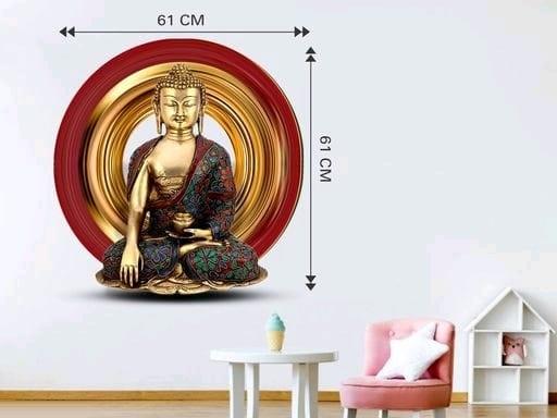 Gautam Buddha 3D Wall Sticker (3)