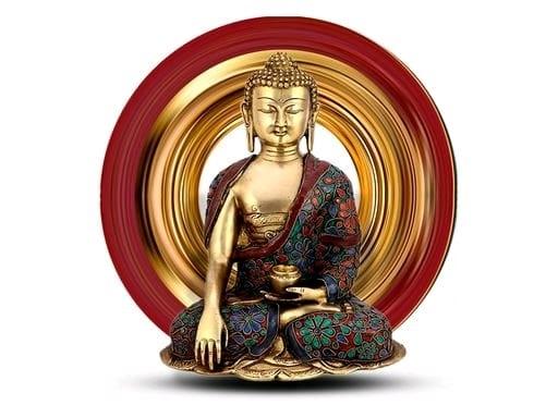 Gautam Buddha 3D Wall Sticker