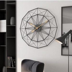 Geometric Pattern Metal Wall Clock