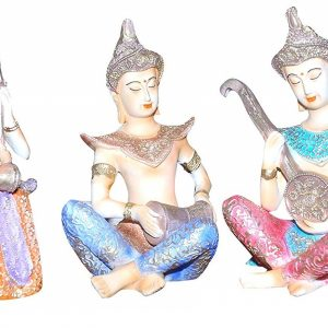 Divine Buddha Statue Playing Musical Instruments