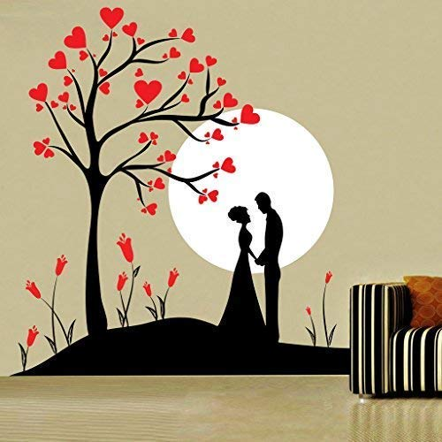 Home Decor Couple Under Tree Wall Sticker, Wall Sticker For Bedroom, Wall Art, Wall Poster