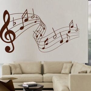 Decal Style Music Notes Flying Wall Sticker