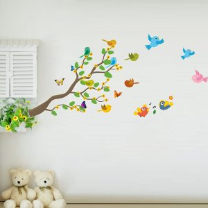 Birds with Nature Decorative Wall Sticker