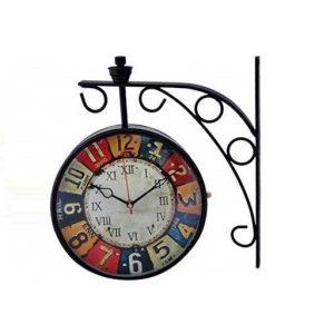 Multicolor Station Wall Clock