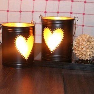 Black/Gold Heart Shape buckets