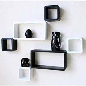 White Black Wall Shelves