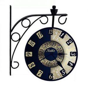 Black Station Wall Clock