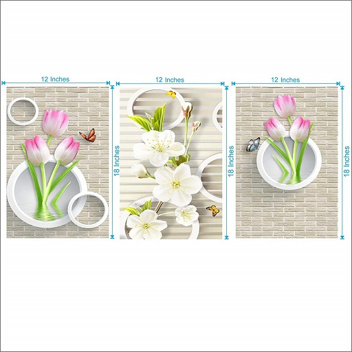 Lotus with Butterflies Wall Sticker (3)
