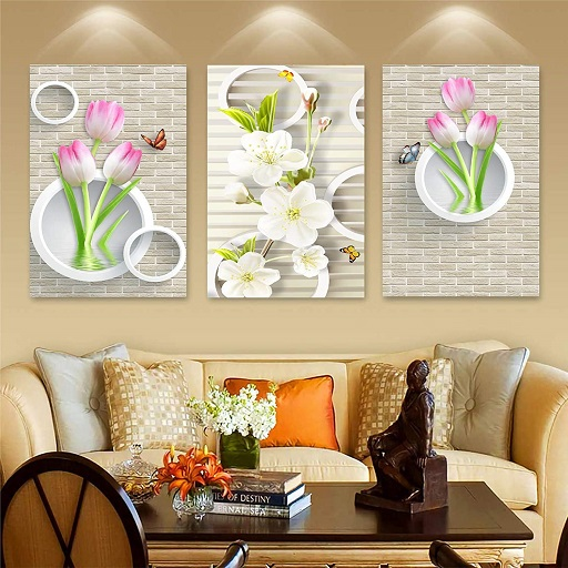 Lotus with Butterflies Wall Sticker