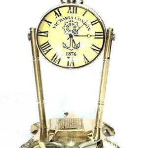 Brass Clock with Compass