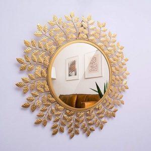 Wall Mirror with Leaf (2)