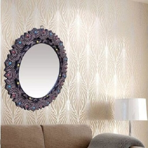 Wall Mirror with Wooden Frame (2)